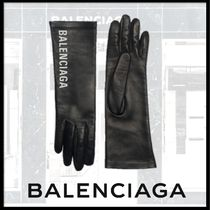 BALENCIAGA Leather Leather & Faux Leather Gloves