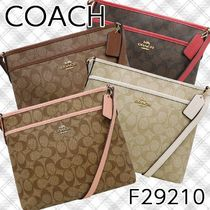 Coach SIGNATURE Casual Style PVC Clothing Shoulder Bags