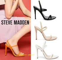 Steve Madden Open Toe Casual Style Plain Sandals