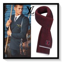Louis Vuitton Unisex Wool Plain Scarves