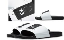 Y-3 Street Style Bi-color Plain Shower Shoes Shower Sandals