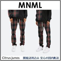 MNML Printed Pants Other Check Patterns Street Style Cotton