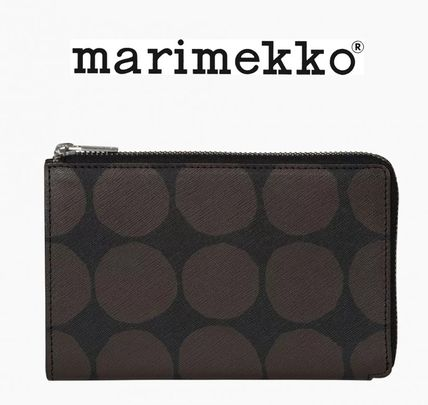 Dots Leather Long Wallets