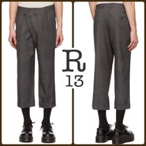 R13 Other Check Patterns Wool Street Style Cropped Pants