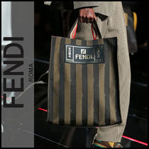FENDI Stripes A4 Totes