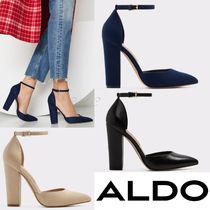 ALDO Plain Block Heels Elegant Style Heeled Sandals