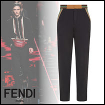 FENDI Stripes Plain Pants