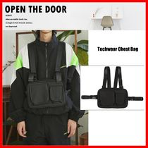 OPEN THE DOOR Unisex Street Style Messenger & Shoulder Bags