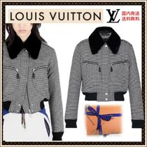 Louis Vuitton Short Other Check Patterns Casual Style Wool Jackets