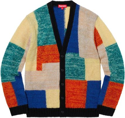 Supreme Sweaters Unisex Street Style Long Sleeves Sweaters