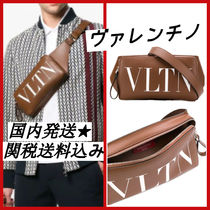 VALENTINO VLTN Leather Crossbody Bag Belt Bags