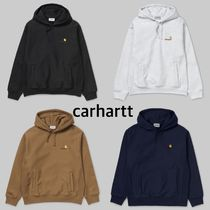 Carhartt Unisex Street Style Long Sleeves Cotton Hoodies