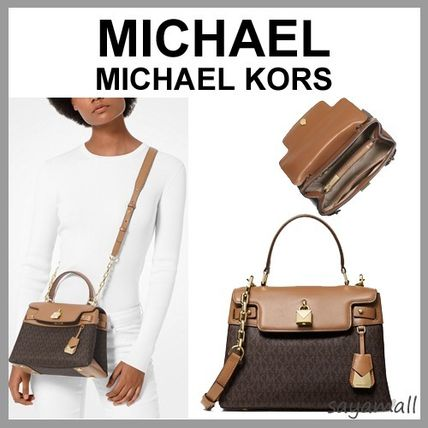 fda38d6cdb4f70 ... Michael Kors Handbags Monogram Blended Fabrics 2WAY Plain PVC Clothing  ...