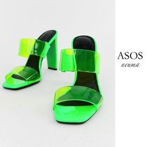 ASOS Square Toe Casual Style Blended Fabrics Street Style