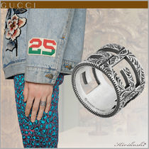GUCCI Unisex Street Style Plain Silver Rings