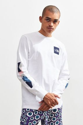 THE NORTH FACE Long Sleeve Crew Neck Street Style Long Sleeves Cotton 2