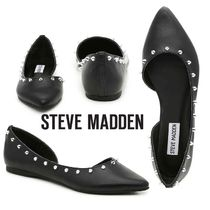 Steve Madden Faux Fur Studded Plain Slip-On Shoes