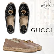 GUCCI Casual Style Leather Flats