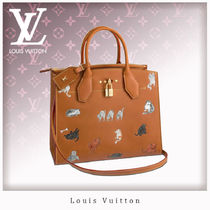Louis Vuitton CITY STEAMER 2WAY Leather Totes
