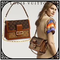 Louis Vuitton MONOGRAM Monogram Canvas Blended Fabrics 2WAY Chain With Jewels