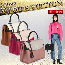 Louis Vuitton LOCKME Blended Fabrics Tassel 2WAY Plain Leather Elegant Style