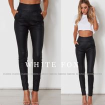 WHITE FOX Casual Style Street Style Long Skinny Pants