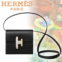 HERMES Casual Style Calfskin 2WAY Plain Clutches