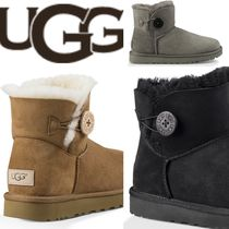 UGG Australia BAILEY BUTTON Plain Toe Casual Style Suede Plain Ankle & Booties Boots