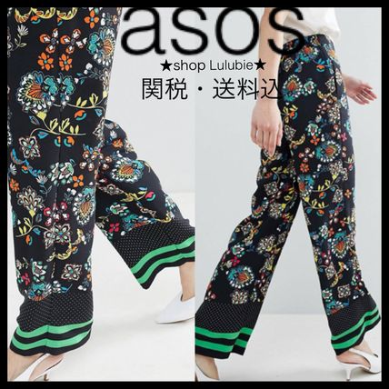 Flower Patterns Casual Style Long Pants