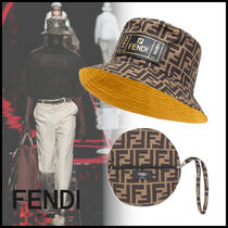 FENDI Street Style Bucket Hats Wide-brimmed Hats