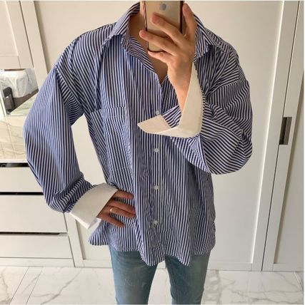 ASCLO Shirts Stripes Oversized Shirts 9