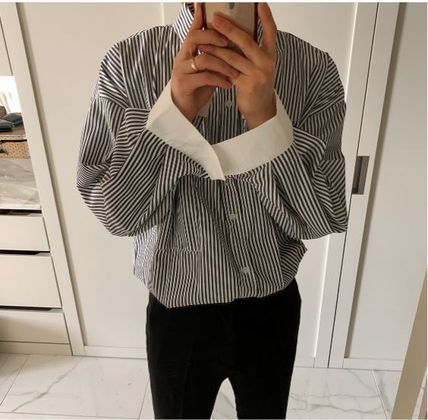 ASCLO Shirts Stripes Oversized Shirts 18