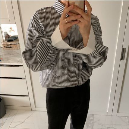 ASCLO Shirts Stripes Oversized Shirts 19