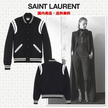 Saint Laurent Short Casual Style Wool Plain Jackets
