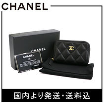 CHANEL MATELASSE Leather Coin Purses