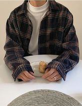 ASCLO Other Check Patterns Long Sleeves Oversized Shirts