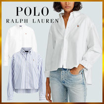 Ralph Lauren Stripes Casual Style Long Sleeves Cotton Medium