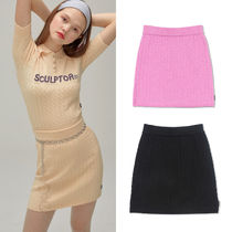 SCULPTOR Pencil Skirts Short Street Style Plain Skirts