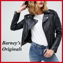 ASOS Short Street Style Plain Leather Biker Jackets