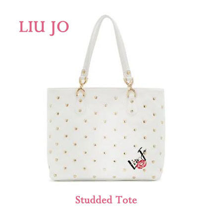 Heart Casual Style Faux Fur Studded Totes
