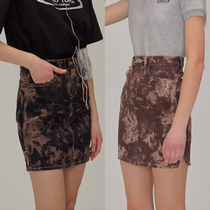 SCULPTOR Pencil Skirts Short Camouflage Street Style Cotton Skirts