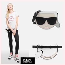 Karl Lagerfeld Casual Style Plain Leather Hip Packs