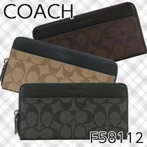 Coach SIGNATURE Leather Long Wallets