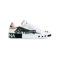 Dolce & Gabbana Star Street Style Leather Sneakers