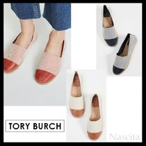 Tory Burch Platform Round Toe Casual Style Plain Lace-Up Shoes