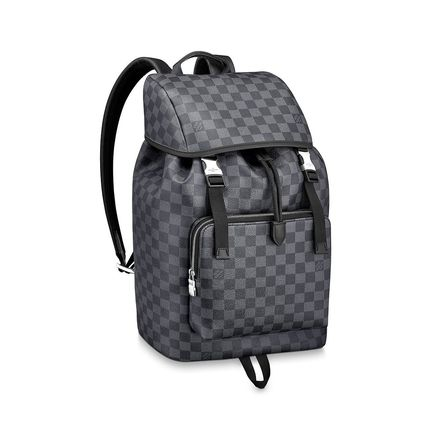 Louis Vuitton Backpacks Other Check Patterns Canvas Blended Fabrics Street Style A4 4