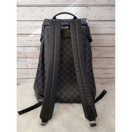 Louis Vuitton Backpacks Other Check Patterns Canvas Blended Fabrics Street Style A4 2