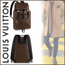 Louis Vuitton MONOGRAM MACASSAR Other Check Patterns Canvas Blended Fabrics Street Style A4