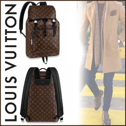 Louis Vuitton Backpacks Other Check Patterns Canvas Blended Fabrics Street Style A4