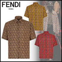 FENDI Monogram Short Sleeves Shirts